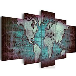 Taulu Artgeist Sapphire Map, eri kokoja