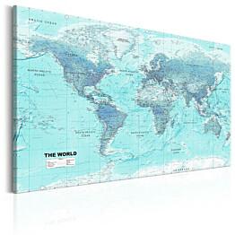 Taulu Artgeist World Map: Sky Blue World, eri kokoja
