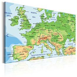 Taulu Artgeist Map of Europe, eri kokoja