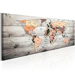 Taulu Artgeist World Maps: Wooden Travels, eri kokoja