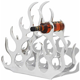 Alumiininen viinipulloteline 11 pullolle hopea_1