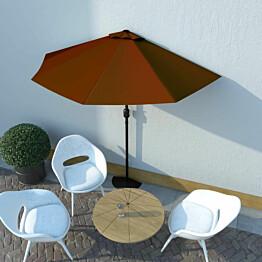 Aurinkovarjo alumiinitanko terrakotta 270x135x245 cm_1