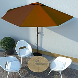 Aurinkovarjo alumiinitanko terrakotta 300x150x253 cm_1