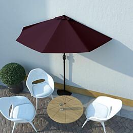 Aurinkovarjo alumiinitanko viininpunainen 270x135x245 cm_1