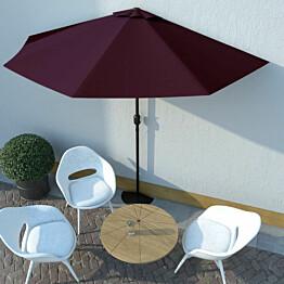 Aurinkovarjo alumiinitanko viininpunainen 300x150x253 cm_1