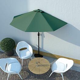 Aurinkovarjo ulkotiloihin alumiinitanko 270x135 cm vihreä_1
