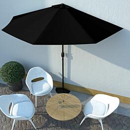 Aurinkovarjo ulkotiloihin alumiinitanko musta 300x150x253cm_1