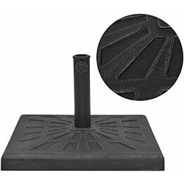 Aurinkovarjon alusta hartsi neliö musta 19 kg_1