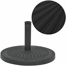 Aurinkovarjon alusta hartsi pyöreä musta 29 kg_1