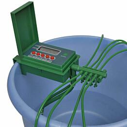 Automaattinen kastelujärjestelmä sadettimella ja ajastimella_1