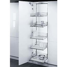 Ulosvedettävä hyllykkö Beslag Design Tal Gate 400x1700-1950mm valkoinen