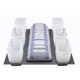 Säilytysrasialaatikko + säilytysrasiat Beslag Design Storewell 524x525mm harmaa