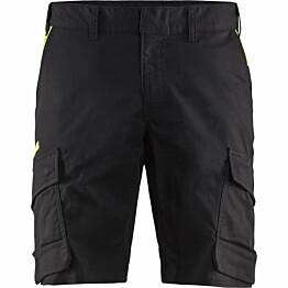 Shortsit Blåkläder 1446 Stretch musta/keltainen