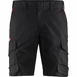 Shortsit Blåkläder 1446 Stretch musta/punainen