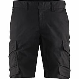 Shortsit Blåkläder 1446 Stretch musta/tummanharmaa