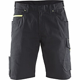 Shortsit Blåkläder 1499 musta/keltainen