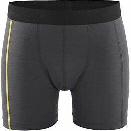 Bokserit Blåkläder 1847 Xlight 100% merinovillaa tummanharmaa/keltainen