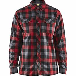 Flanellipaita Blåkläder 3299 punainen/musta