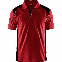 Pikeepaita Blåkläder 3324 punainen/musta