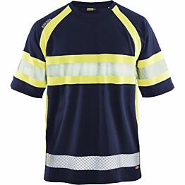 T-paita Blåkläder 3337 Highvis mariininsininen/huomiokeltainen