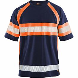 T-paita Blåkläder 3337 Highvis mariininsininen/huomio-oranssi