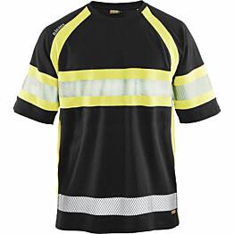 T-paita Blåkläder 3337 Highvis musta/huomiokeltainen
