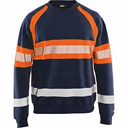 Collegepaita Blåkläder 3359 Highvis mariininsininen/huomio-oranssi