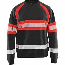 Collegepaita Blåkläder 3359 Highvis musta/huomiopunainen