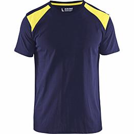 T-paita Blåkläder 3379 mariininsininen/keltainen
