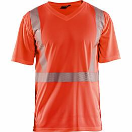 T-paita Blåkläder 3386 Highvis huomiopunainen
