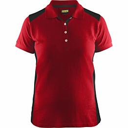 Naisten pikeepaita Blåkläder 3390 punainen/musta