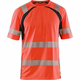 T-paita Blåkläder 3397 Highvis huomiopunainen/musta