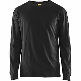 Palosuojattu pitkähihainen t-paita Blåkläder 3483 musta