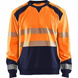 Collegepaita Blåkläder 3541 Highvis huomio-oranssi/sininen