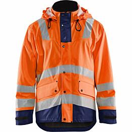 Talvisadetakki Blåkläder 4307 Highvis huomio-oranssi/sininen
