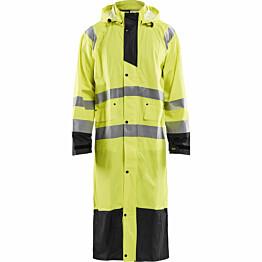 Pitkä sadetakki Blåkläder 4325 Highvis huomiokeltainen/musta