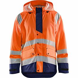Huomiosadetakki Blåkläder 4327 Highvis huomio-oranssi/sininen