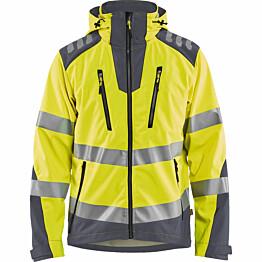 Softshell-takki Blåkläder 4491 Highvis huomiokeltainen/harmaa