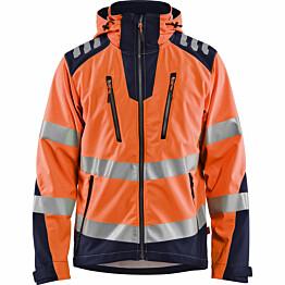 Softshell-takki Blåkläder 4491 Highvis huomio-oranssi/sininen
