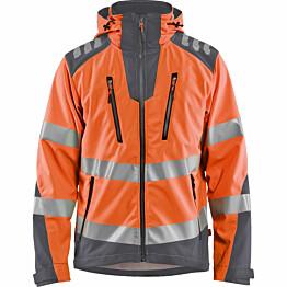 Softshell-takki Blåkläder 4491 Highvis huomio-oranssi/harmaa