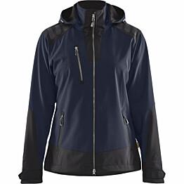 Naisten softshell-takki Blåkläder 4719 tummansininen/musta