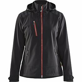 Naisten softshell-takki Blåkläder 4719 musta/punainen