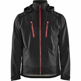 Softshell-takki Blåkläder 4749 musta/punainen