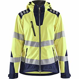 Naisten softshell-takki Blåkläder 4791 Highvis huomiokeltainen/sininen