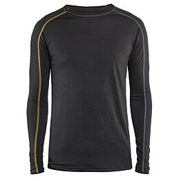 Aluspaita Blåkläder 4799 Xlight 100% merinovillaa tummanharmaa/keltainen
