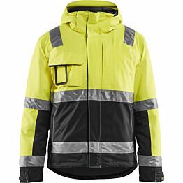 Talvitakki Blåkläder 4870 Highvis huomiokeltainen/musta