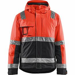 Talvitakki Blåkläder 4870 Highvis huomiopunainen/musta