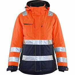 Naisten talvitakki Blåkläder 4872 Highvis huomio-oranssi/sininen