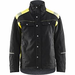 Talvitakki Blåkläder 4915 musta/keltainen