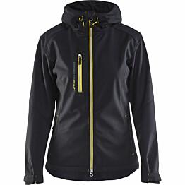 Naisten softshell-takki Blåkläder 4919 musta/keltainen
